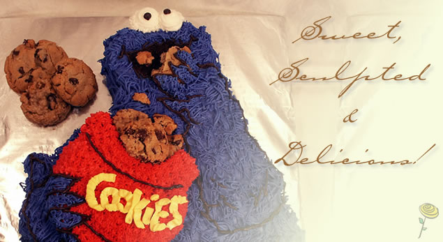 Cookie Monster Sweet Sculpted and Delicious