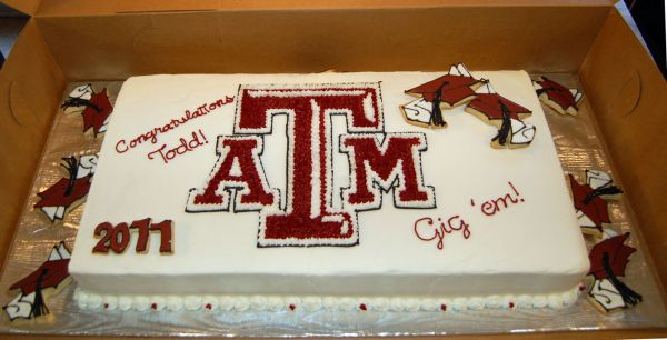 Texas A&M Graduaion Cake