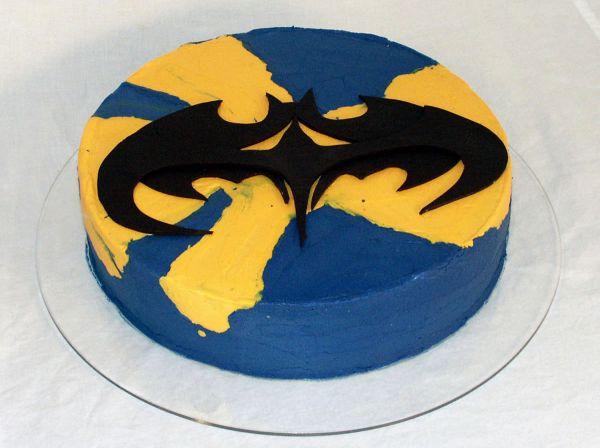 Bat Logo Cake