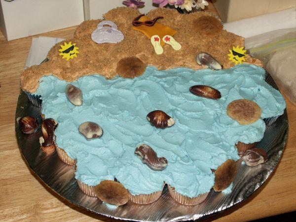 Beach Pull Apart Cupcakes