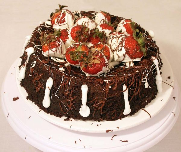 Chocolate Volcano Groom's Cake