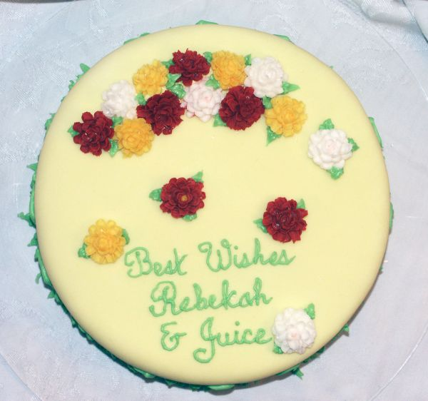 Best Wishes Floral Cake