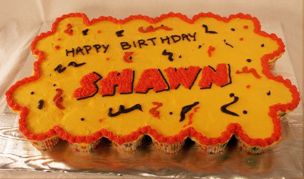 Pull Apart Birthday Cake