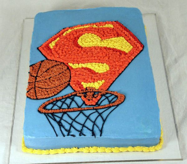Superman Basketball Cake