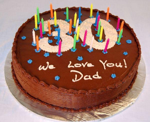 30th Chocolate Birthday Cake