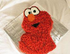 Elmo Sculpted Cake