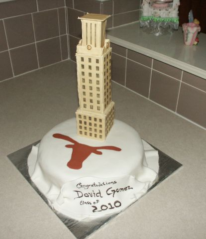 University of Texas Tower Graduation Cake