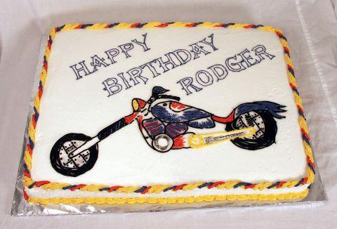 Superman Chopper Cake