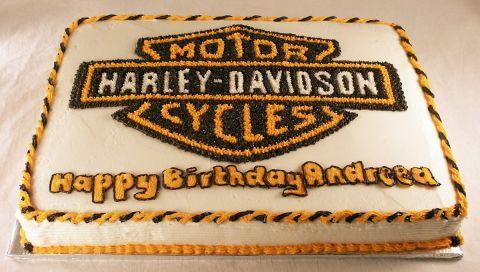 Harley Logo Cake