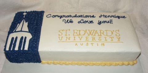 Saint Edwards Graduation Cake