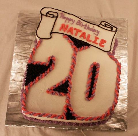 20th Birthday Cake