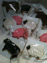 pig cookie, farm cookies, cow cookies, sheep cookies