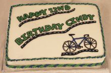 Bicycle Birthday Cake
