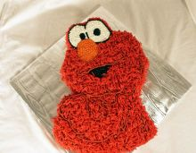 Elmo Sculpted Cake