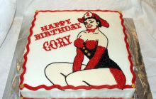 Fire Fighter Pin Up Cake