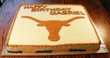 Long Horn Sheet Cake
