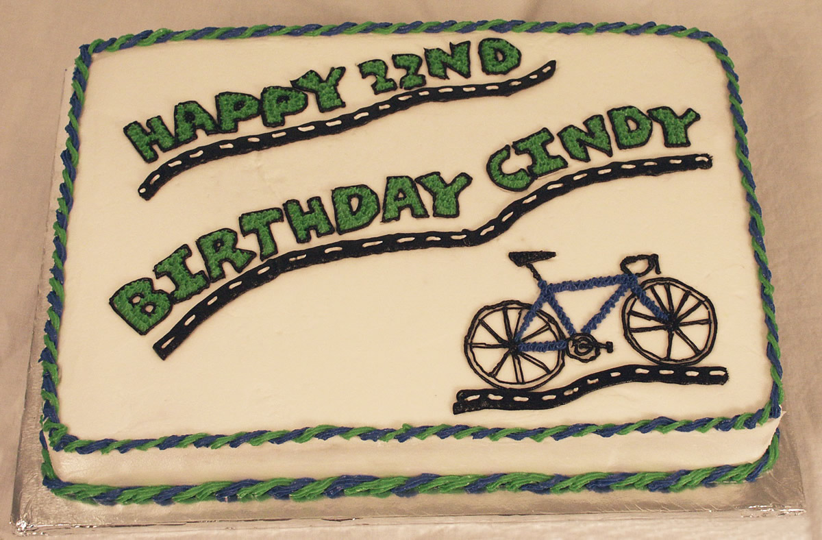 Brilliant Bicycle Birthday Cake Texas Rose Bakery Funny Birthday Cards Online Overcheapnameinfo