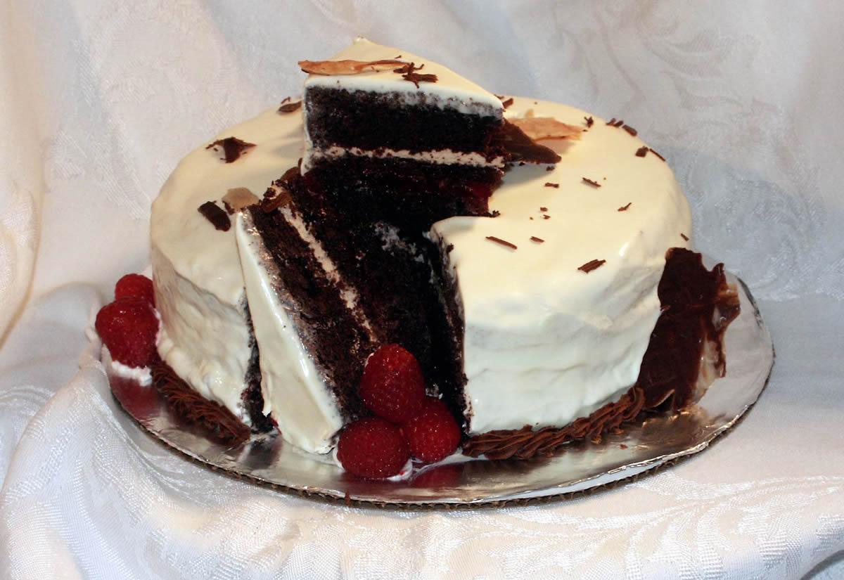 Chocolate Raspberry Cake | Texas Rose Bakery