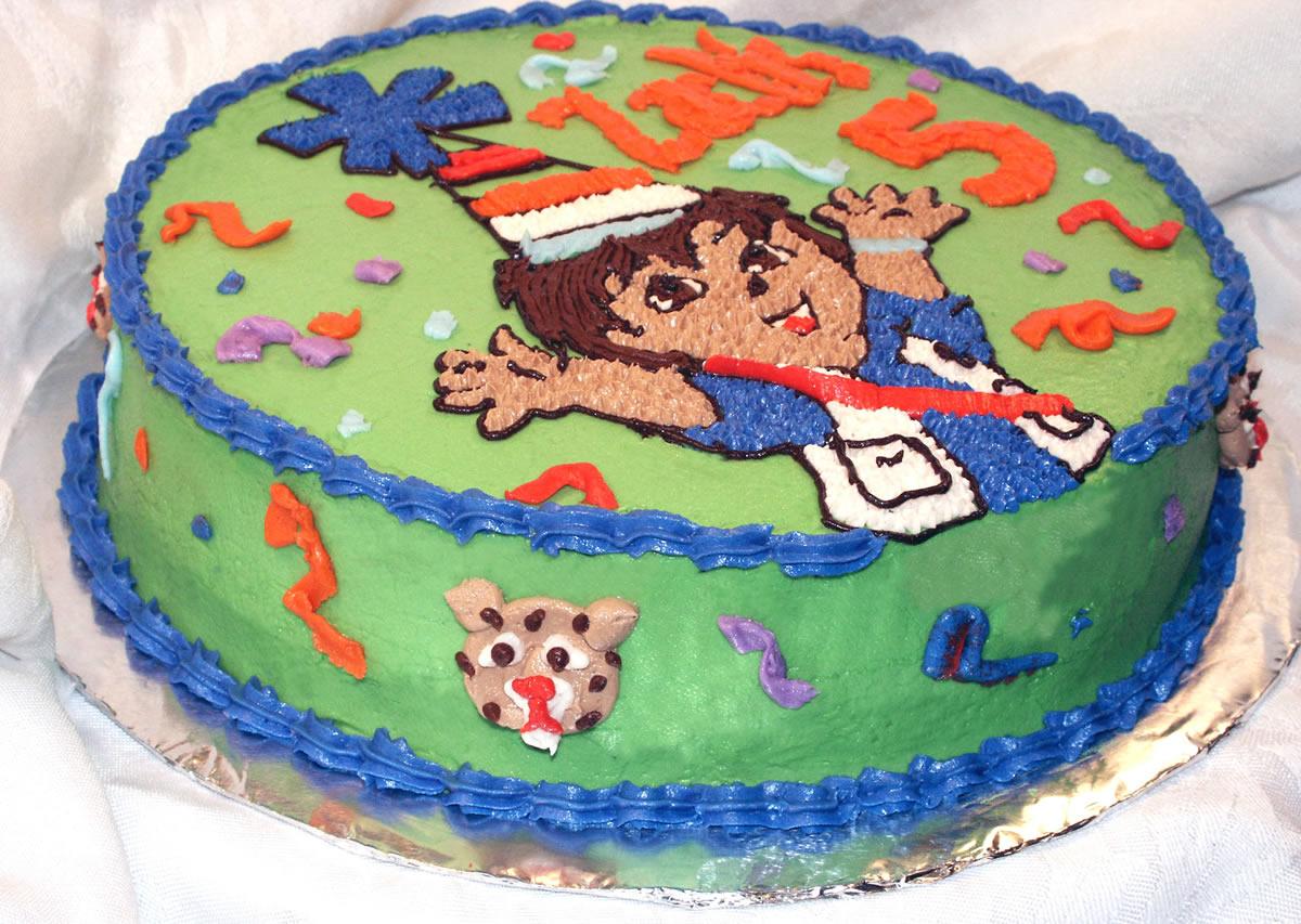 Outstanding Diego Birthday Cake Texas Rose Bakery Personalised Birthday Cards Epsylily Jamesorg