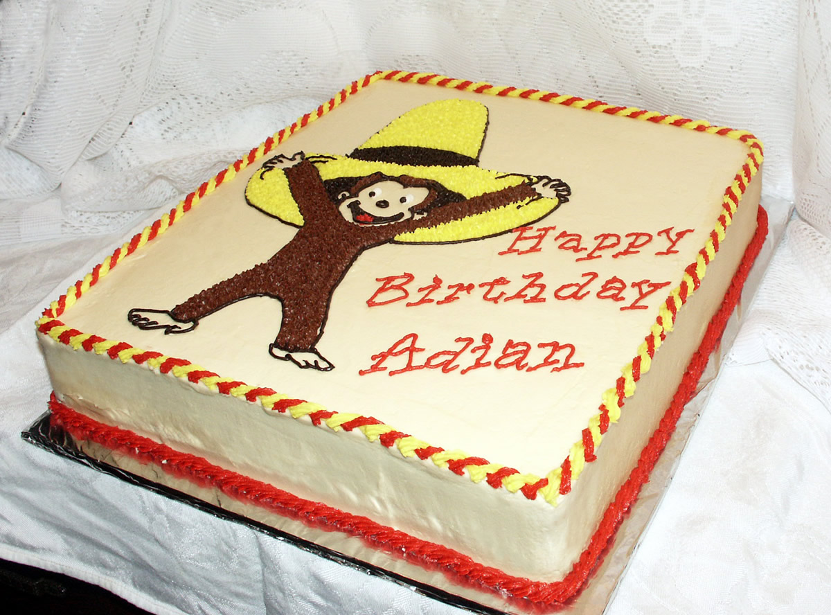 Curious George Cake Texas Rose Bakery