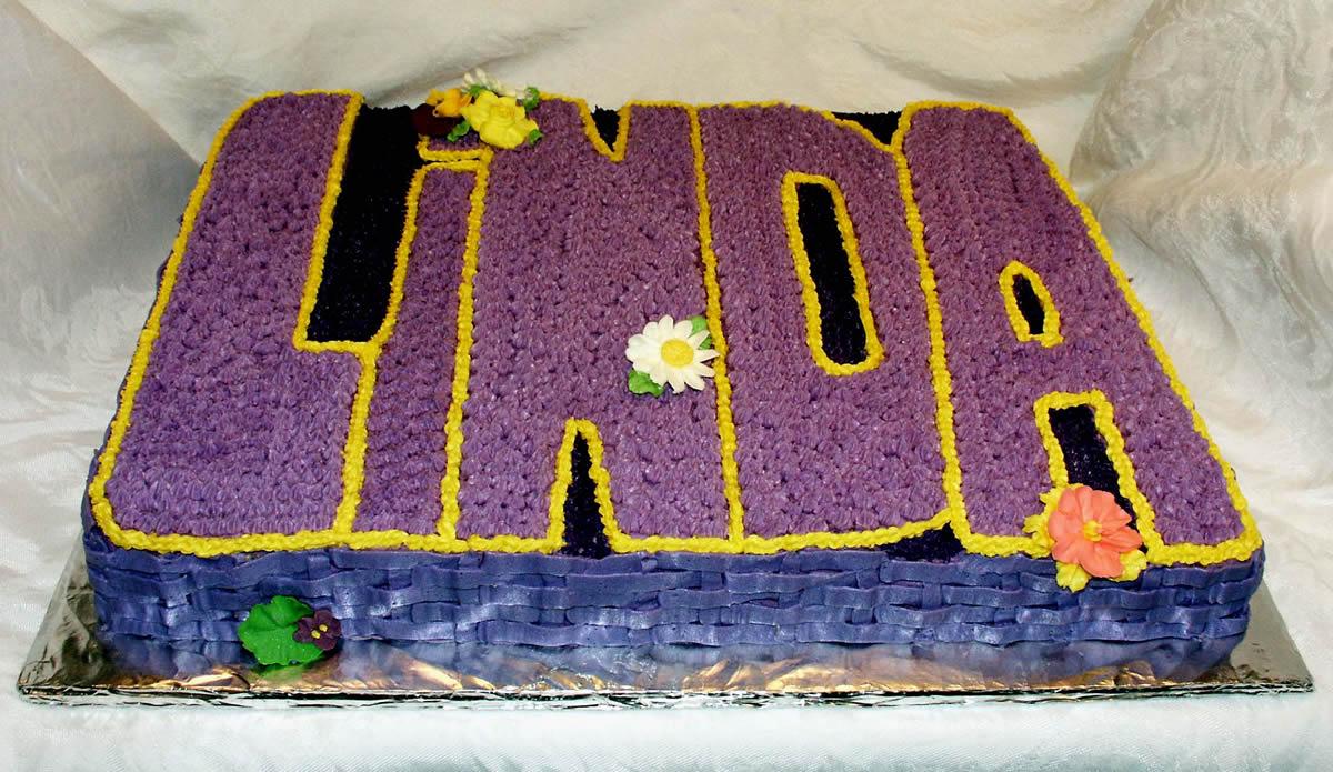 Birthday Cake For Linda Texas Rose Bakery