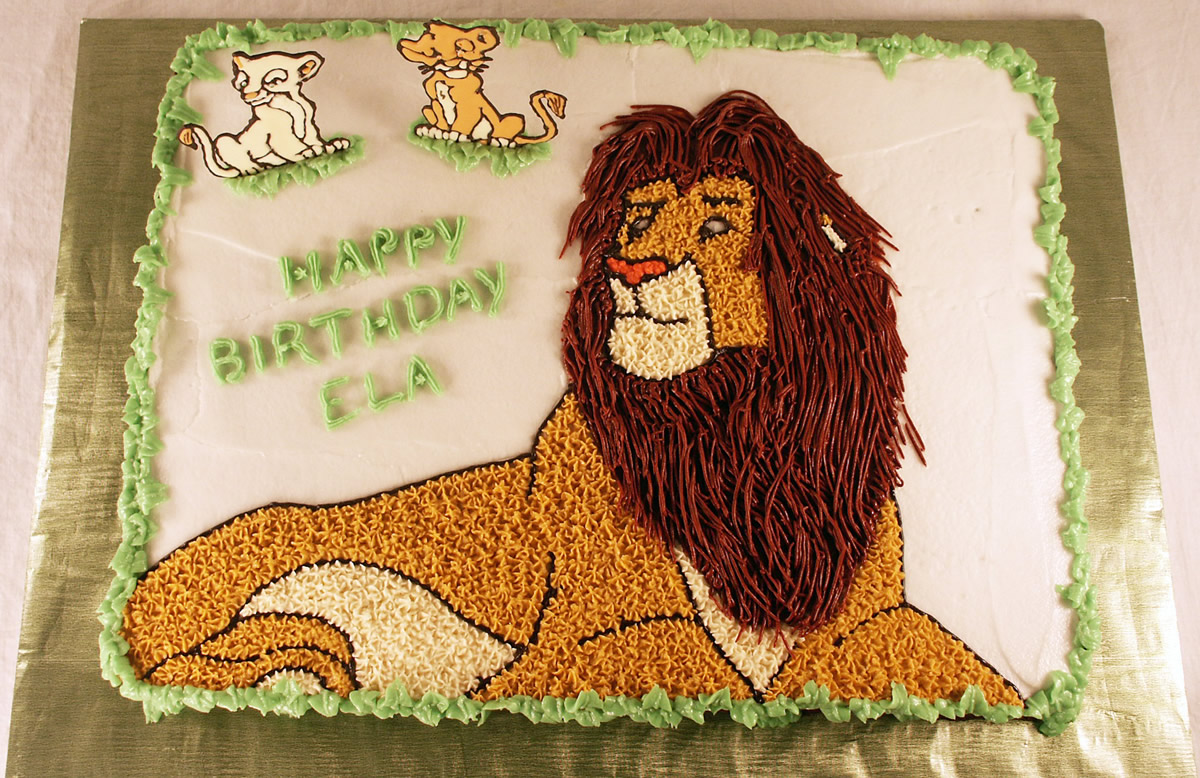 Simba Cake Texas Rose Bakery